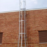 galvanize roof cage ladder