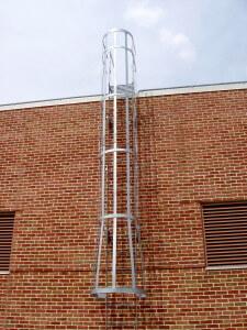 galvanize roof cage ladder