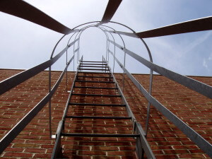 cage ladder galvanized