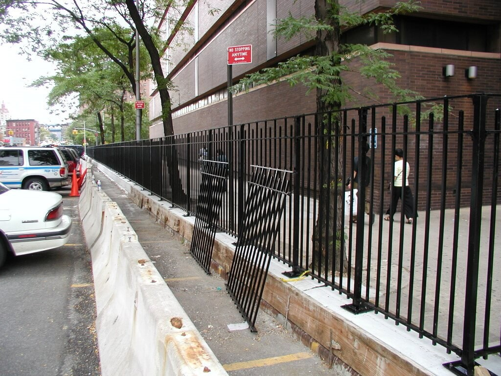 4 foot solid fence plated custom