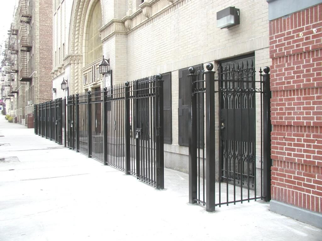 6 foot heavy bar fence entry gate