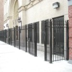 6 foot heavy bar fence entry gate
