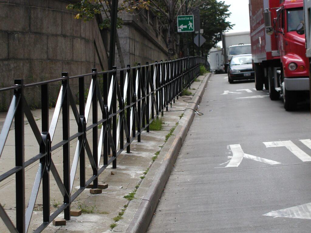 solid crossbar fence