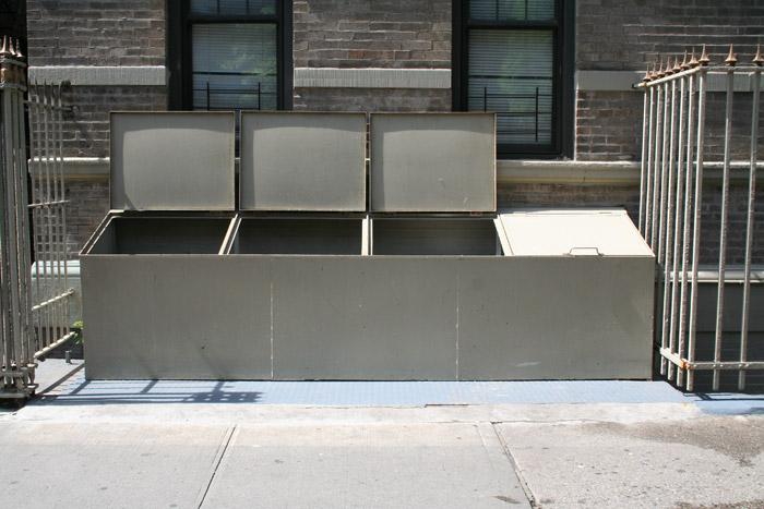 steel solid garbage bins