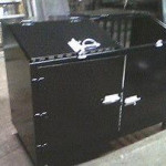 welded steel garbage bin