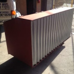 waste steel storage bin