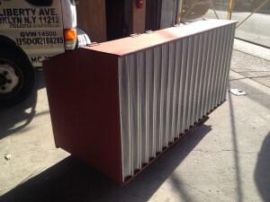 waste steel storage bin