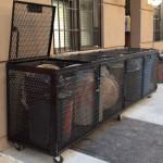 garbage pail bins steel