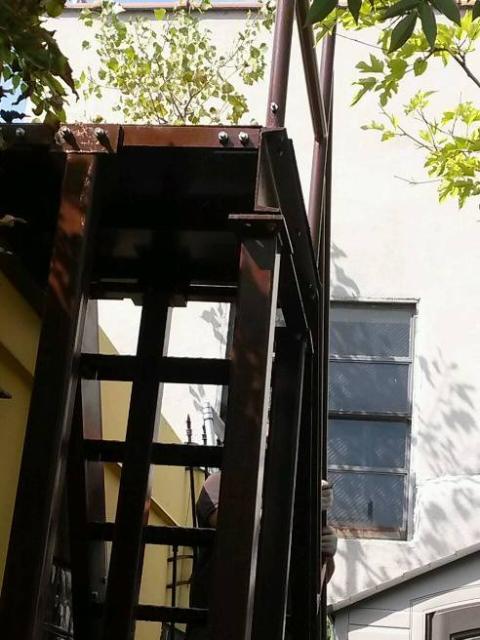 structural steel catwalk