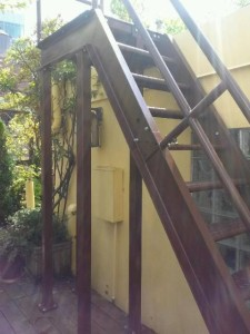 exterior staircase support