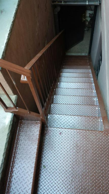 steel stairs interior