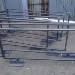 standing steel free divider