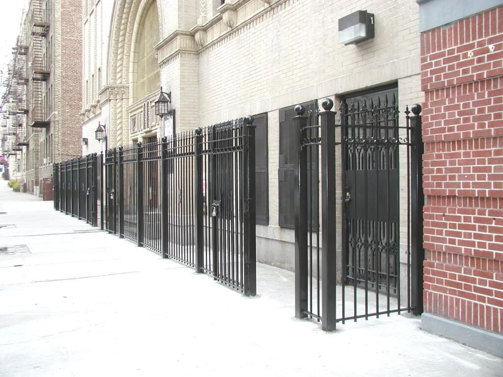 steel fence gate