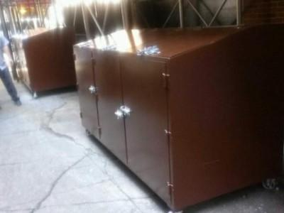 Brown Steel Bins