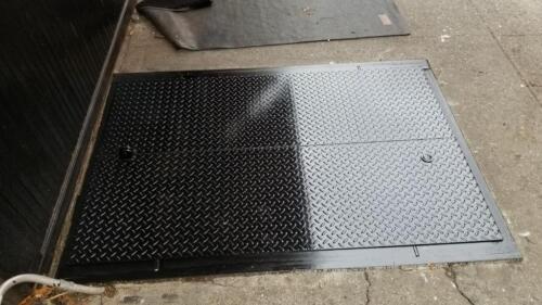 Sidewalk cellar doors steel