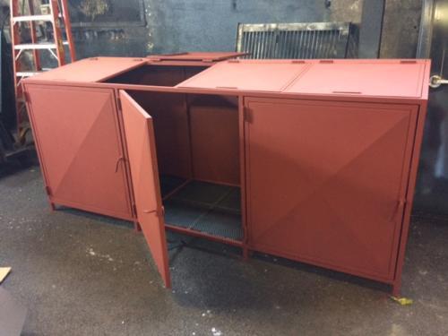 steel garbage bin