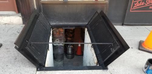 Sidewalk Cellar Doors