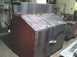 raw steel fabricated bin