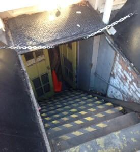 sidewalk cellar door